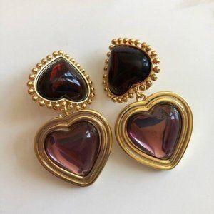 NWOT Tory Burch heartshape earrings clip on